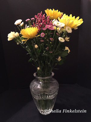 Flowers in vase when first received on May 8, 2016