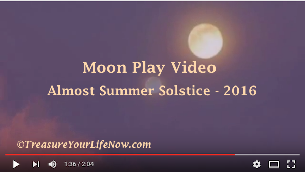 Video of almost Full Moon Summer Solstice 2016