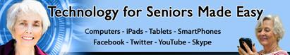 Technology for Seniors Made Easy website header on http://TreasureYourLifeNow.com