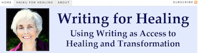 Writing for Healing Header Graphic on http://TreasureYourLifeNow.com
