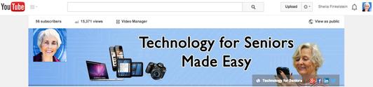 Technology for Seniors YouTube Channel header graphic - http://youtube.com/technologyforseniors