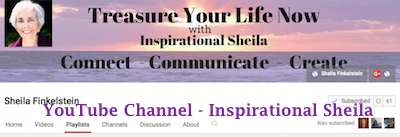 Inspirational Sheila YouTube Channel Header Art