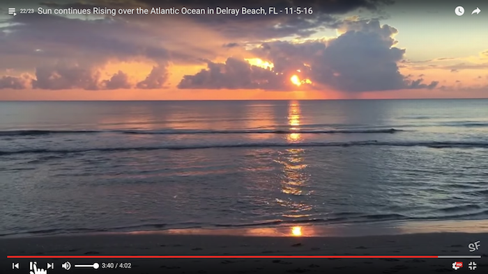 Sun Rising over the Atlantci